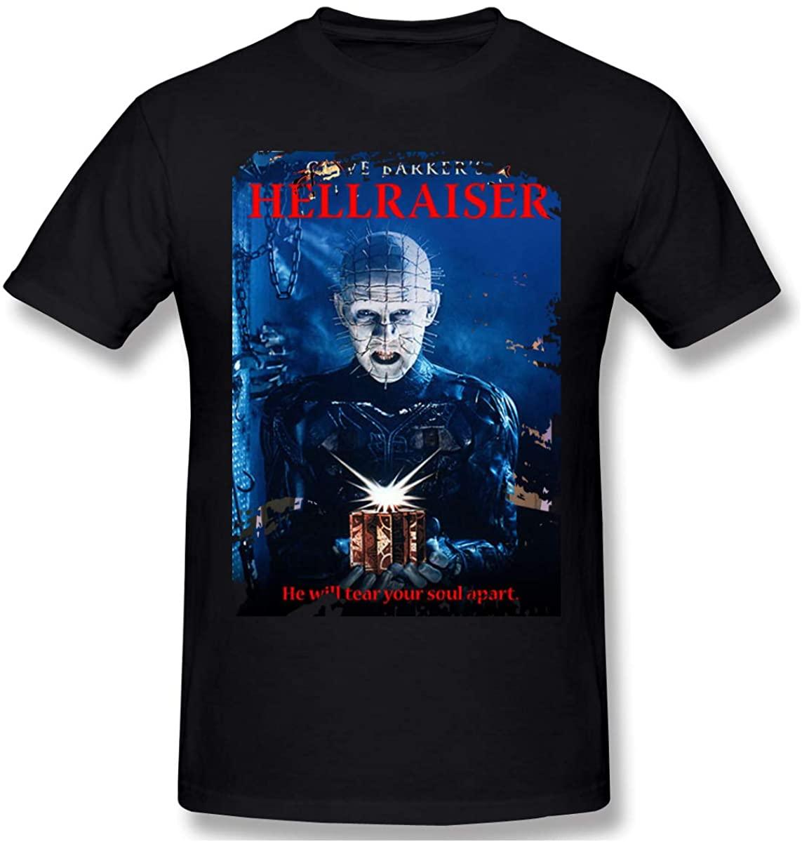 CUICAN Mens Hellraiser T-Shirt Vintage for Mens