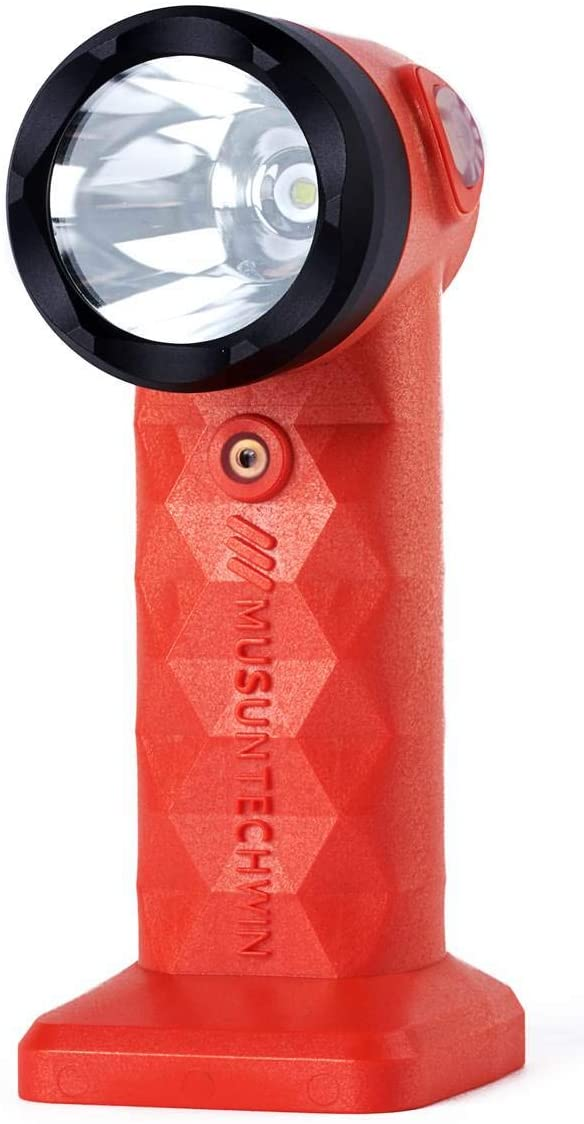 PowerKing MST-SAFETY ALARM (90dB) Portable LED Flashlight (Disaster Preparedness), Survival,Emergency, Waterproof IP67, 10W Lamp (2300cd), 1000 Ft Distance, Flameproof, Camping Running Hiking