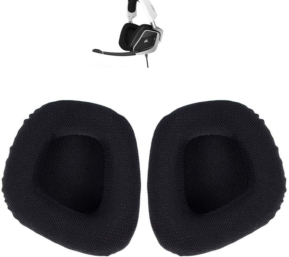 Replacement Ear Pad Cushion Muffs Mesh Fabric Earpads Cover Parts Comaptible with Corsair Void PRO RGB Wired/Wireless Gaming Headset