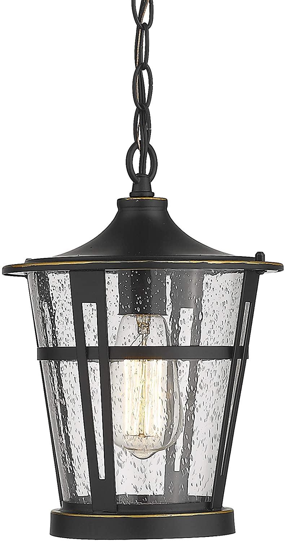Outdoor Pendant Lighting, Bestshared 1-Light Outdoor Hanging Lantern Light Fixtures, Patio Hanging Light