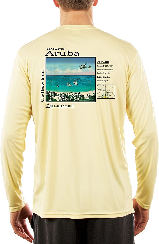 Island Classics Aruba Men's UPF 50+ Sun Protection Long Sleeve T-Shirt
