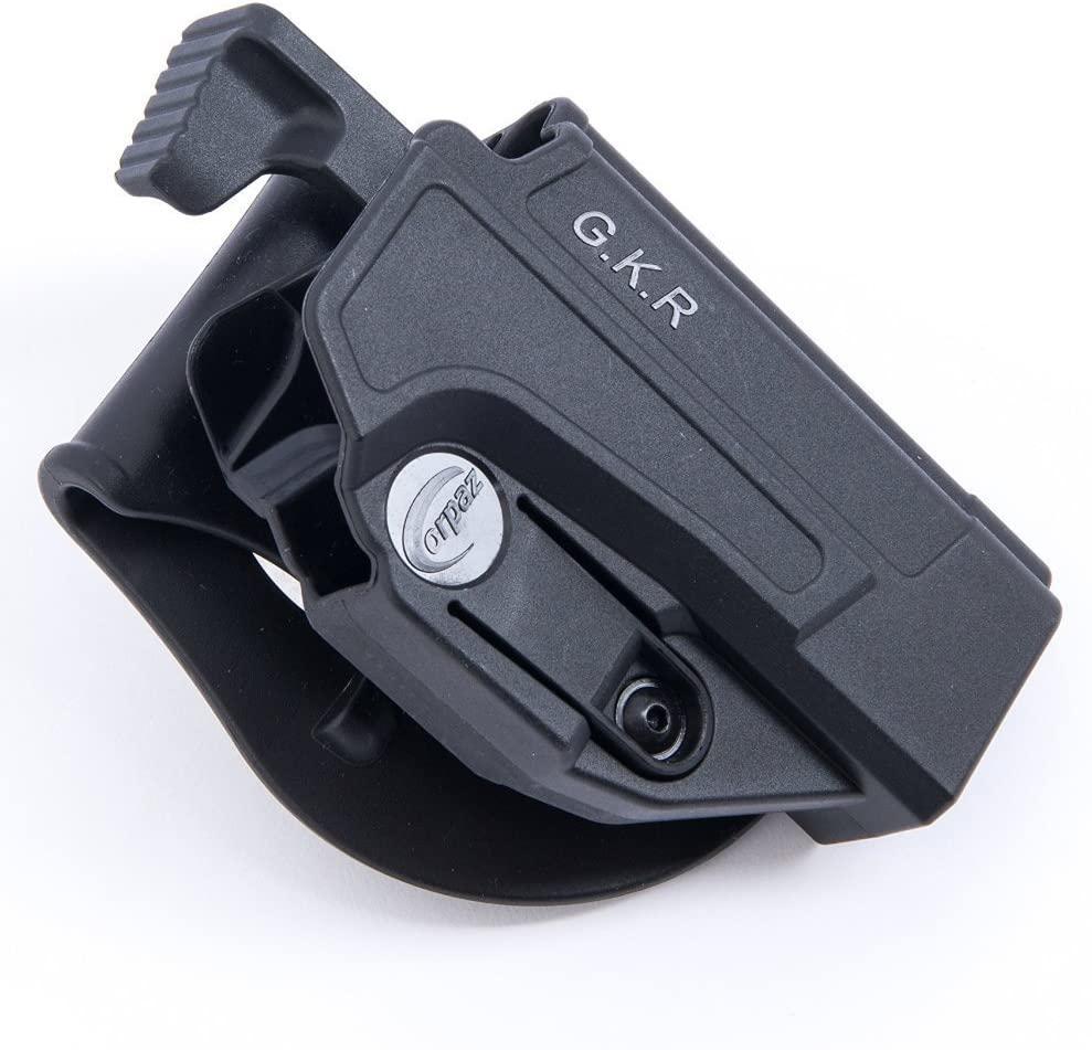 Orpaz Black Polymer Heckler & Koch USP Full Size Thumb Release Holster Rotation Paddle Tension Adjustment