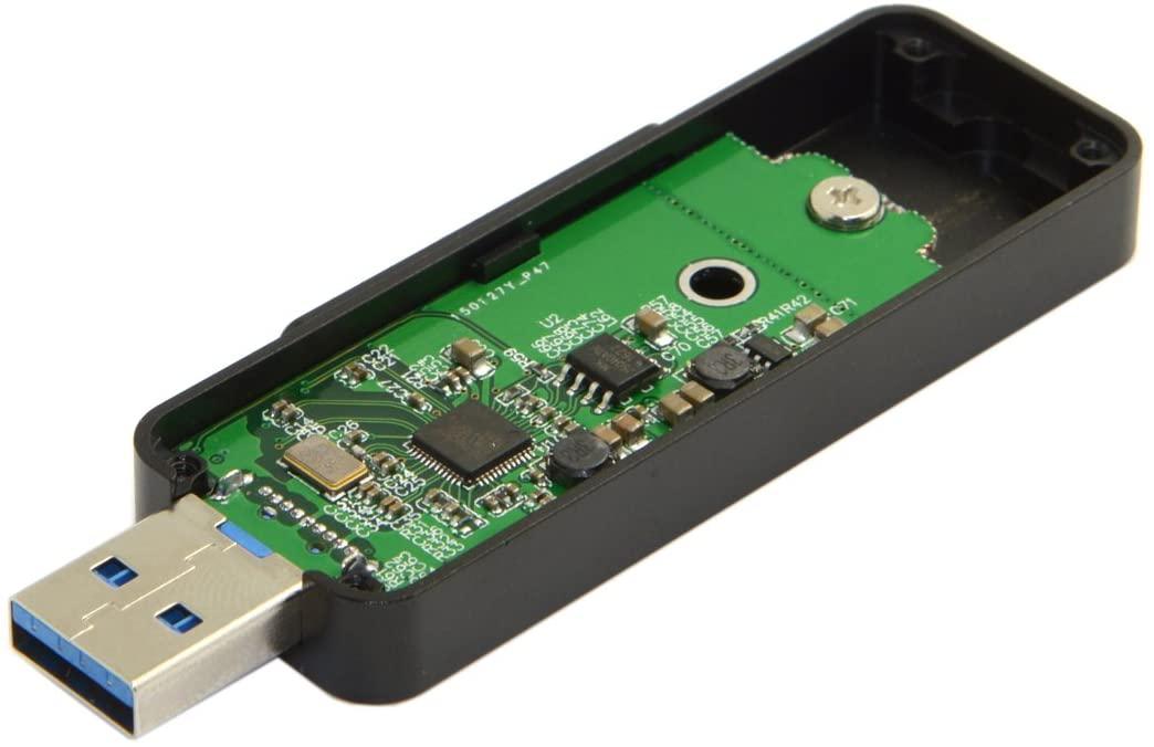 JSER Retractable 42mm NGFF M2 B-Key or B/M-Key SSD to USB 3.0 External PCBA Conveter Adapter Card Flash Disk Type Black