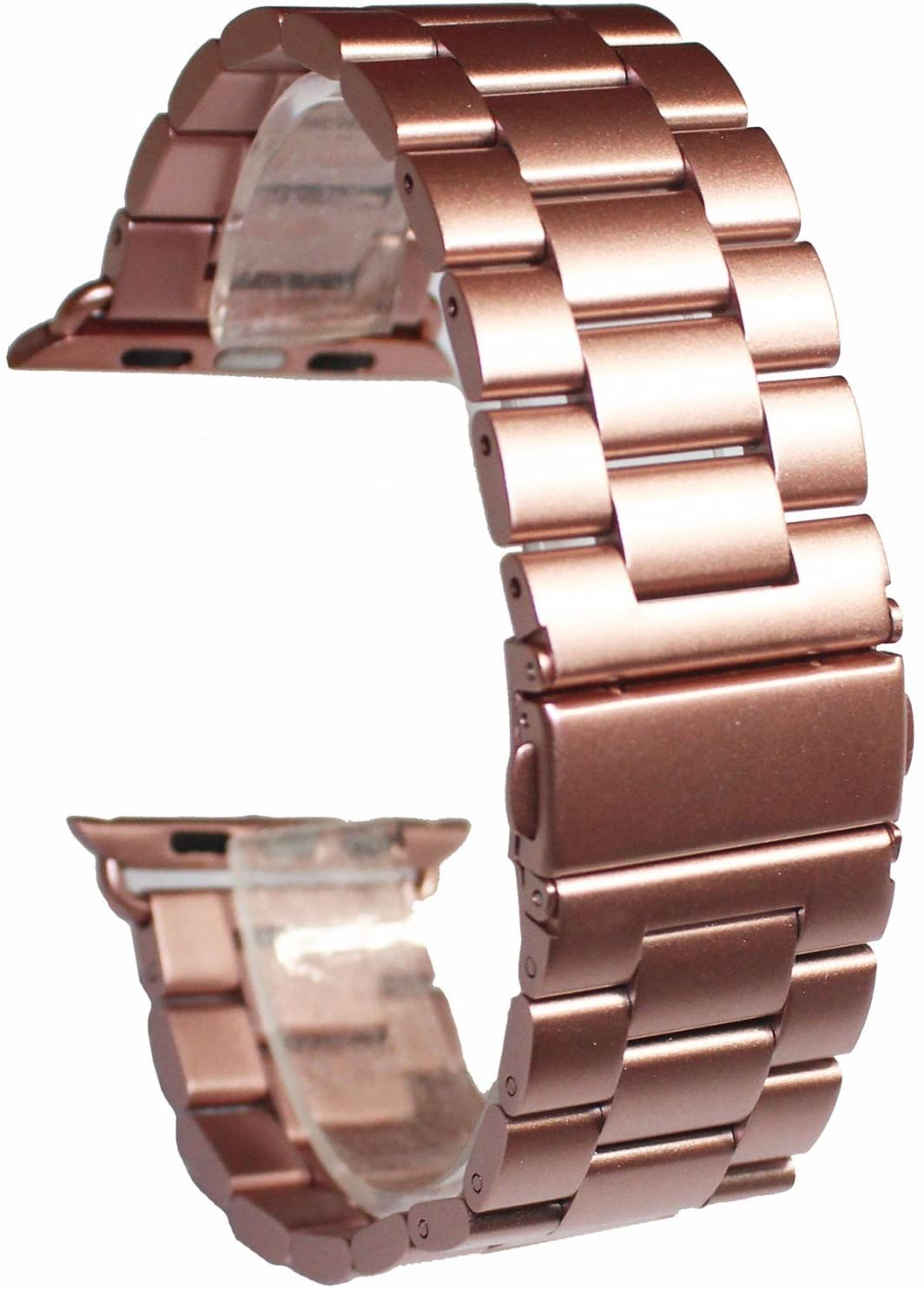 Dahase compatible for Apple Watch Band, Stainless Steel Strap Bracelet Polishing Process Replacement Wristband Watch band for Apple Watch iWatch Series 5 4 3 2 1 All Versions 44mm 42mm Pink Gold