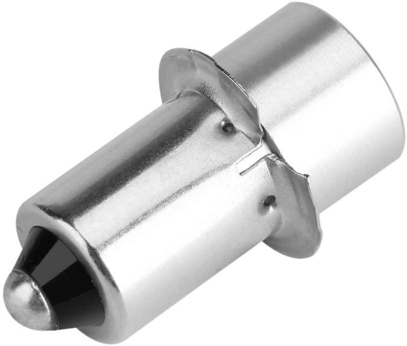 Hakeeta LED Flashlight Bulb, P13.5S 3W 3V/4~12V High Bright LED Flashlight Bulb Replacement Part Emergency Work Light Lamp LED Conversion Kit Bulbs for Flashlights Bulb Torches.(3V-White)