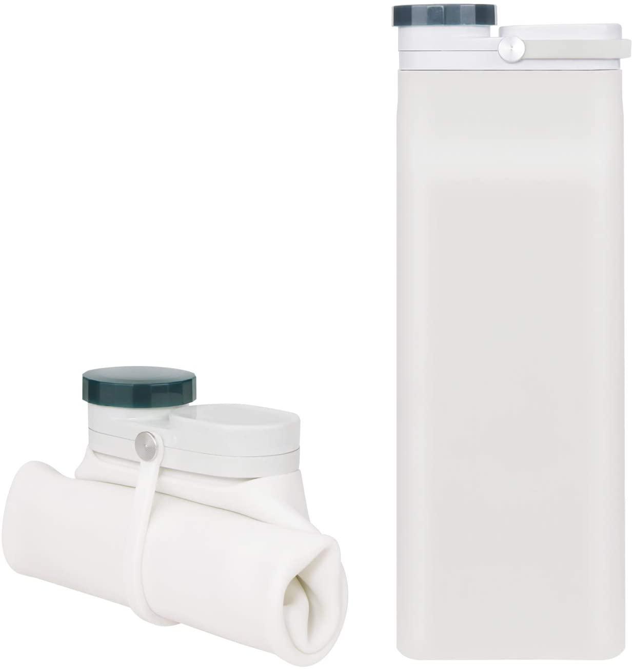 KARIDUN Collapsible Water Bottle for Travel Foldable Water Bottle BPA Free Hiking Water Bottles Sport Water Bottle
