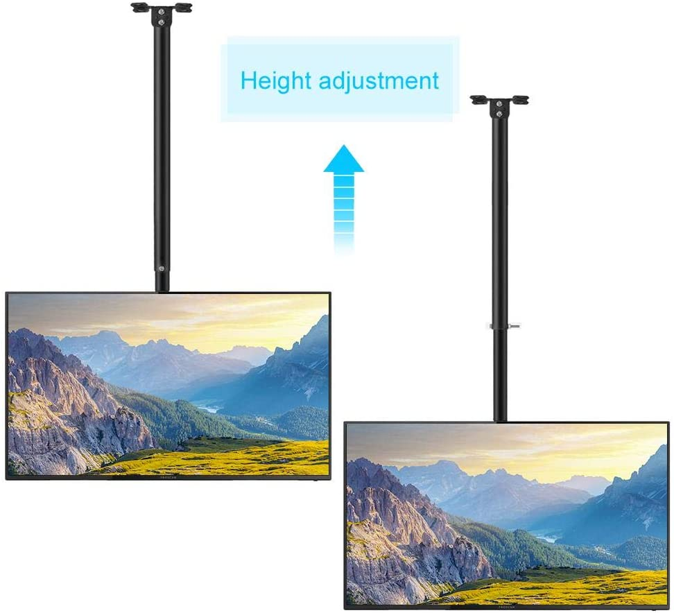 TOPINCN TV Ceiling Bracket, Heavy Duty Iron TV Ceiling Mount Bracket TV Stand Vertical 15°/Horizontal 360°Adjustable Hanging TV Holder for 32-63in LCD LED Flat Panel Televisions