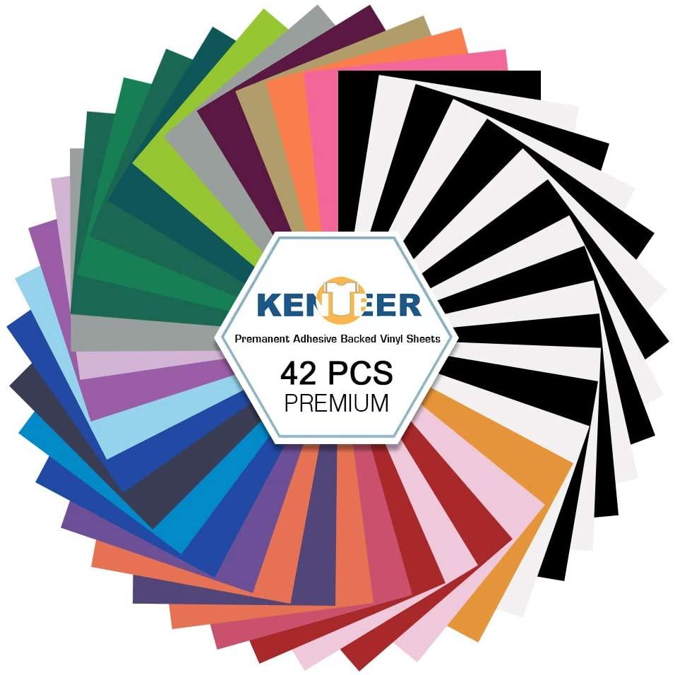 Kenteer HTV Heat Transfer Vinyl Bundle : 42 Pack 12