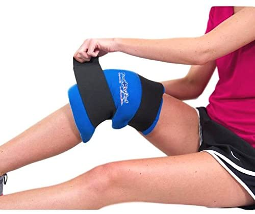 Soft Gel Knee Ice Wrap by Cool Relief (2 Removeable Inserts)