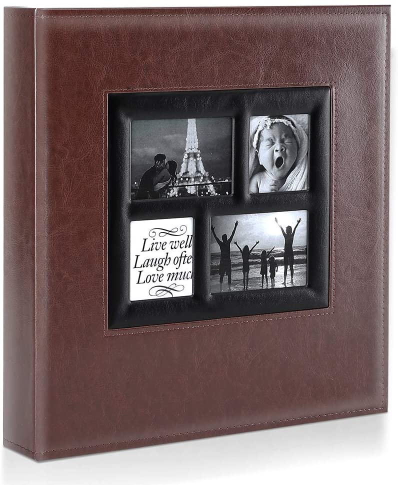 Ywlake Photo Album 4x6 1000 Pockets Photos, Extra Large Capacity Family Wedding Picture Albums Holds 1000 Horizontal and Vertical Photos Brown