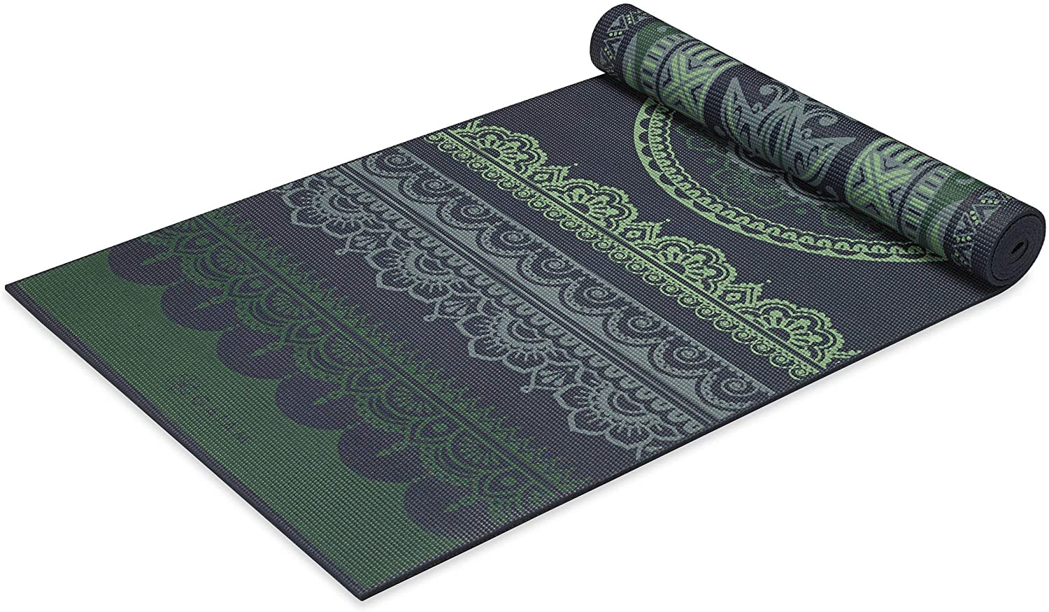 Gaiam Yoga Mat - Premium 6mm Print Reversible Extra Thick Non Slip Exercise & Fitness Mat for All Types of Yoga, Pilates & Floor Workouts (68