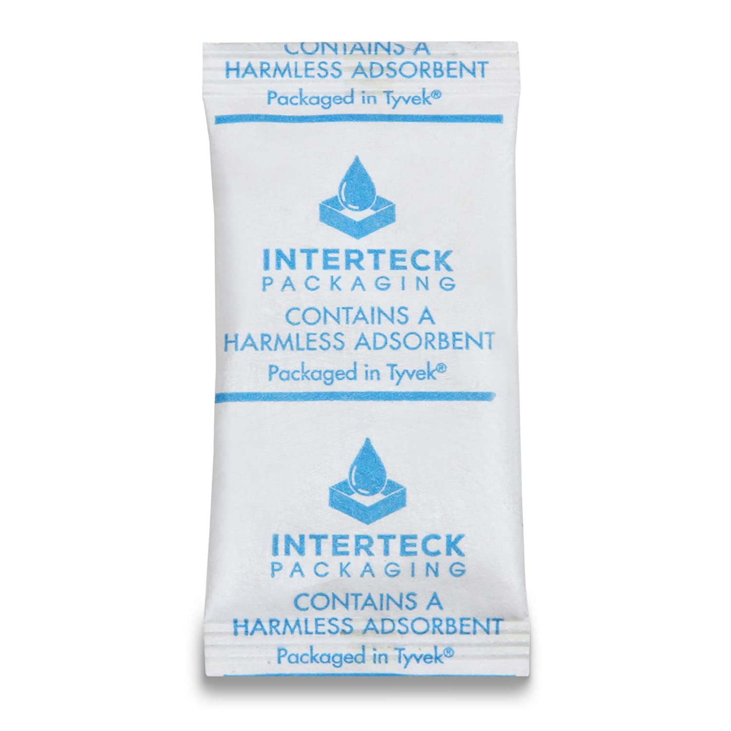 INTERTECK PACKAGING 3 Gram Silica Gel Packets - Rechargeable Desiccant Packets and Dehumidifiers (Non-Indicating, Tyvek 500 Pack)