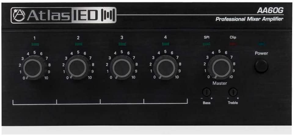 Atlas Sound 60W 4 Input Mixer Amplifier