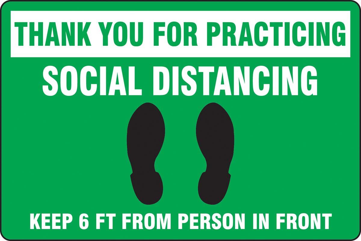 Accuform Social Distancing Floor Sign