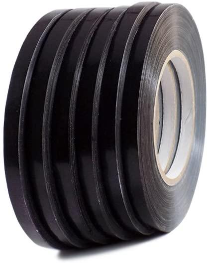 T.R.U. UPVC-24BS Black Poly Bag Sealing Tape: 3/8 in. x 180 yds. (Pack of 10)