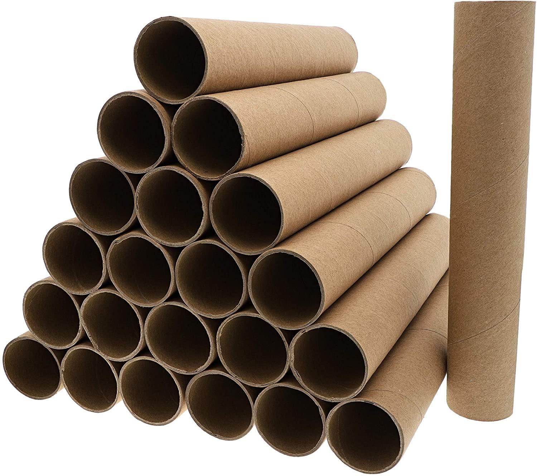 Brown Cardboard Tubes for Crafts, DIY Craft Paper Rolls (1.8 x 10 In, 24 Pk)