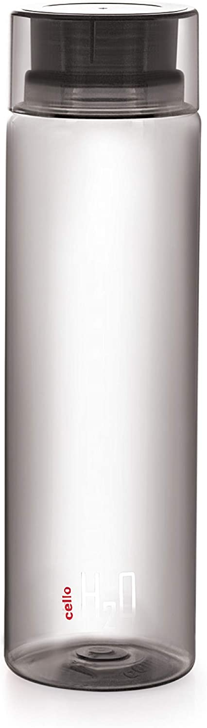 Cello H2O Round Plastic Leak Proof Water Bottle for Office, Gym, 750 ml