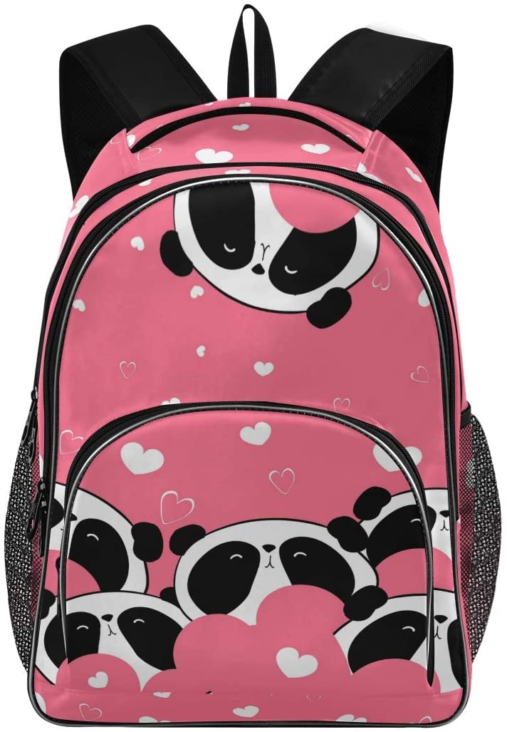 ALAZA Animal Cute Panda Pink Laptop Outdoor Backpack for Women Men,Fits Under 15.6 Inch Laptop