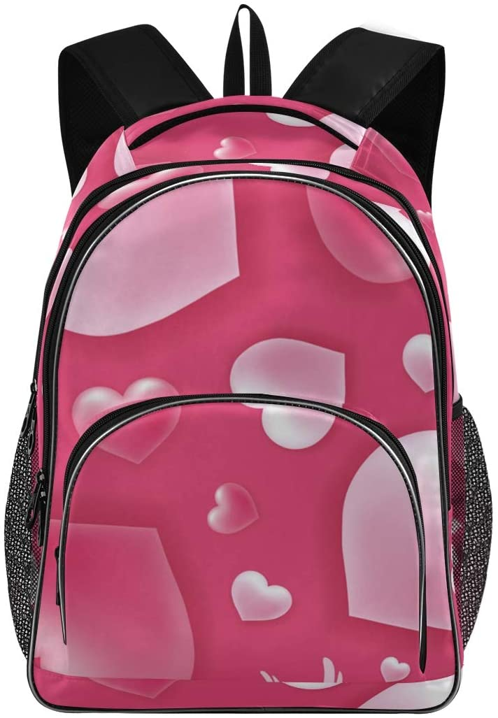 ALAZA Valentines Day Love Pink Travel Laptop Backpack Gifts for Men Women Fits 15.6 Inch Notebook