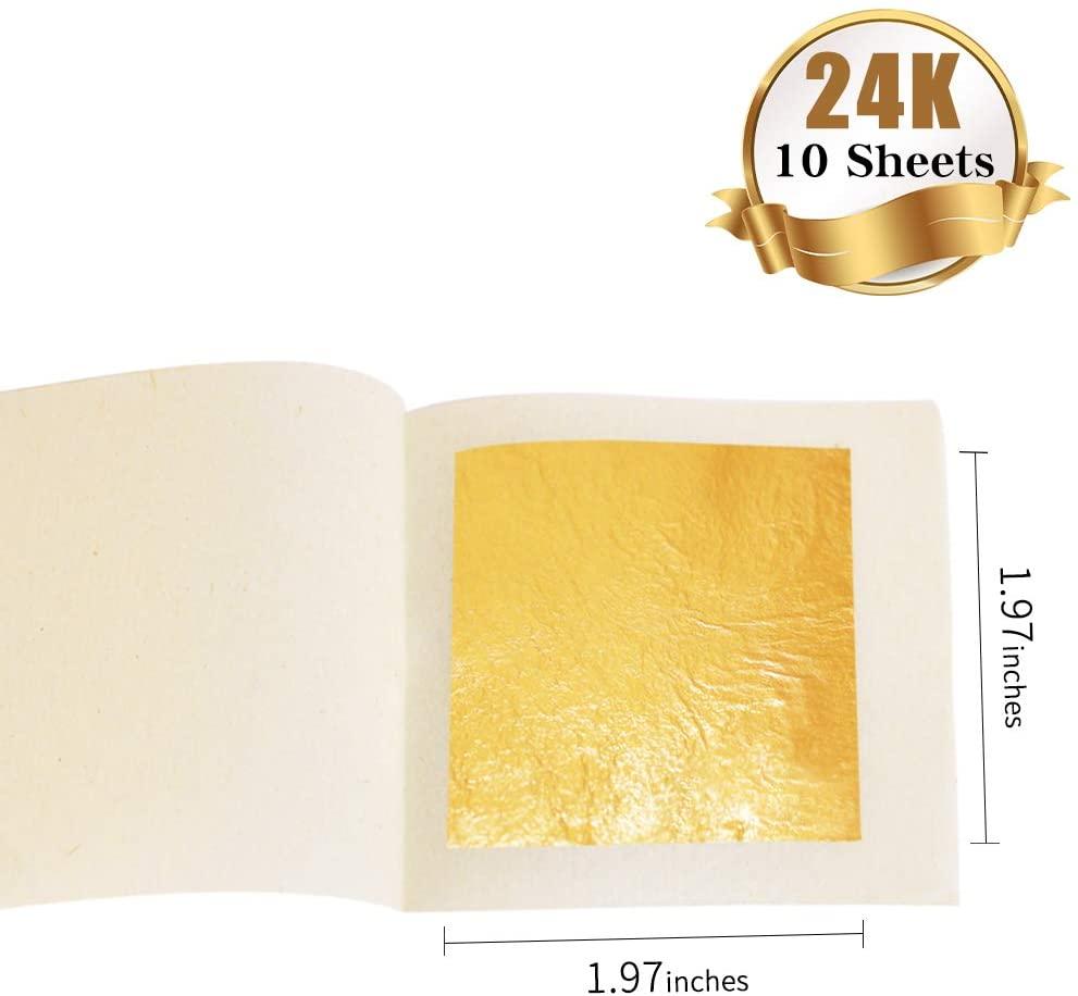 24K Edible Gold Leaf Sheets 1.97