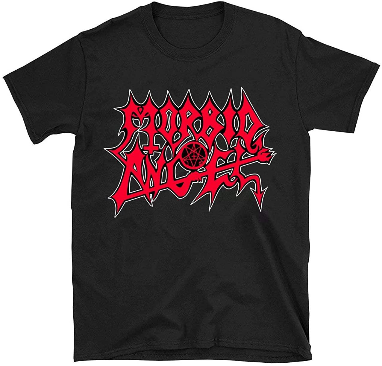 Moc.Deamiarr Men's Morbid Angel t Shirt Classic Logo Graphic Printing Shirts Top Black