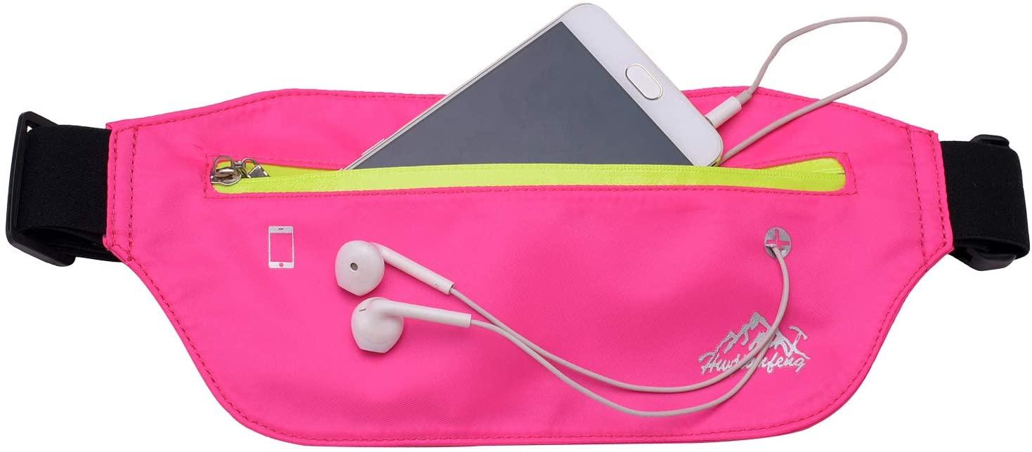 HWJIANFENG Slim Running Belt Fanny Pack, Ultra Light Waist Pouch Fitness Workout Belt Sport Exercise Waist Bag Pack for All Phone: Apple iPhone 8 X 7 6+ 5s Samsung in Running Gym Marathon Cycling