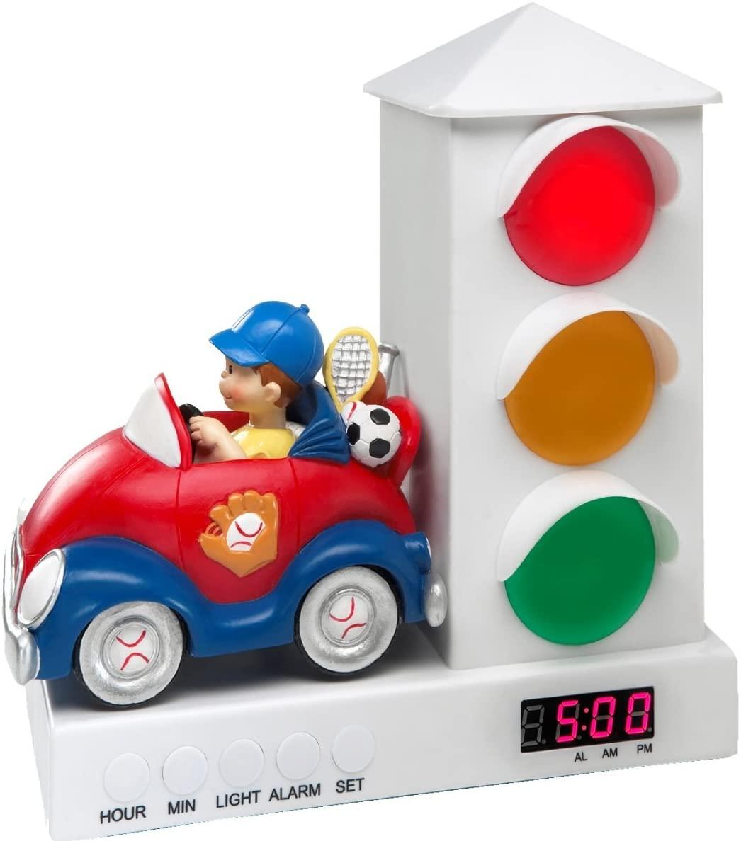 Boy Car Stoplight Alarm Clock for Kids, It's Ok to Wake Clock