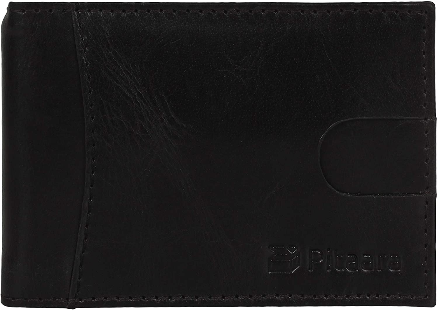Genuine Leather Slim Hand Crafted Minimalist Front Pocket Bifold Wallet with RFID Blocking and Money Clip For Men
