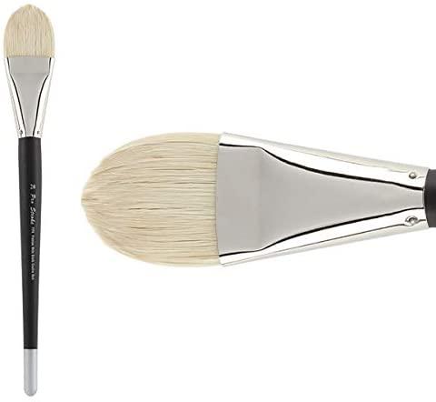 Creative Mark Pro Stroke Premium Artist White ChungKing Hog Bristle Paint Brush - Filbert 20