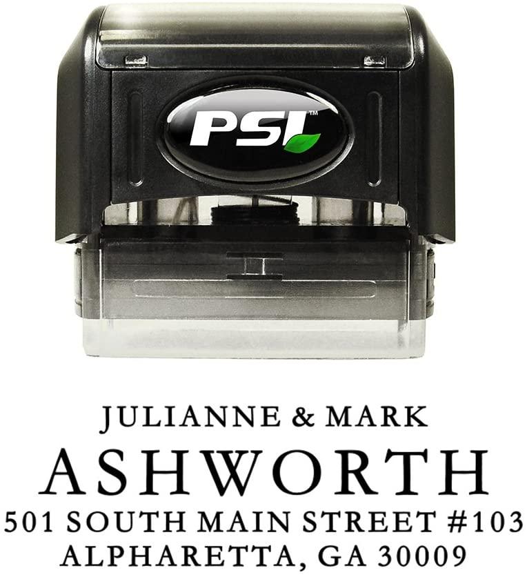 Simple Elegance Return Address Stamp, Self Inking, Wedding Stamp, Personalized, Black Ink