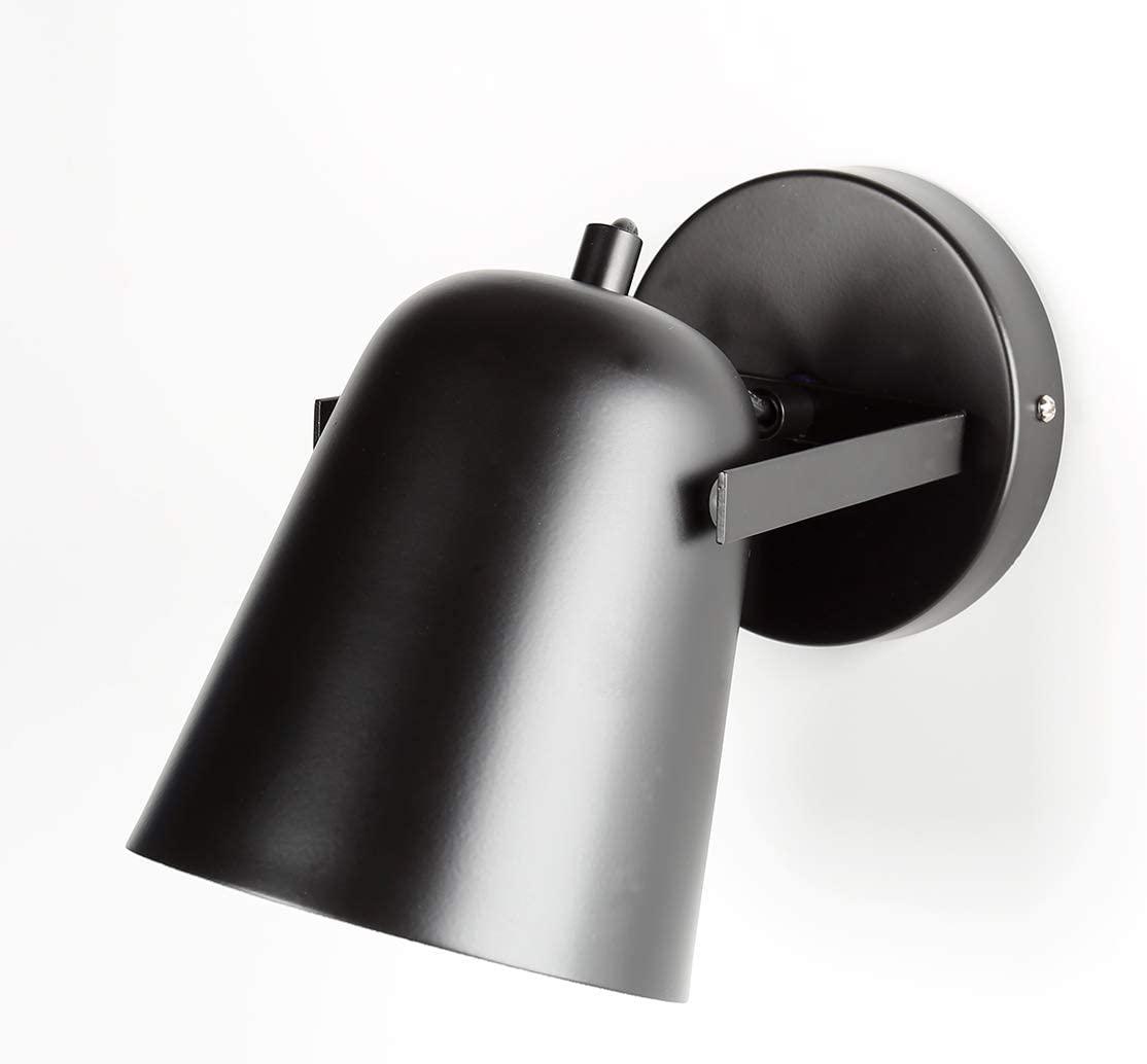 xie LS-7157 Nordic Bedroom Bedside lamp Wall lamp, 180 Degree Activity Creative Retro Multicolor Iron LED Wall lamp (Black)