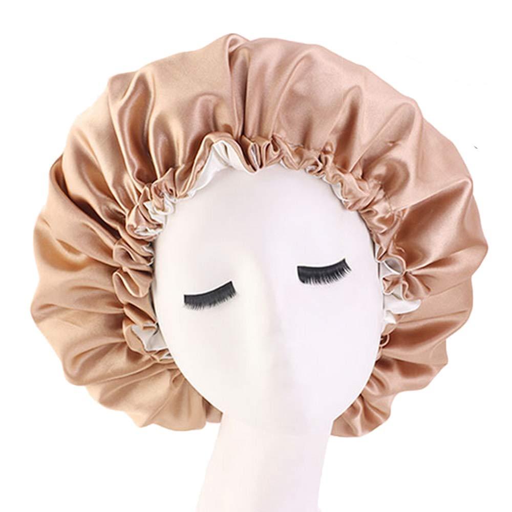 Satin Bonnet Silk Bonnet For Curly Hair Bonnet Braid Bonnet For Sleeping Bonnets For Women Large Double-layer Adjustable