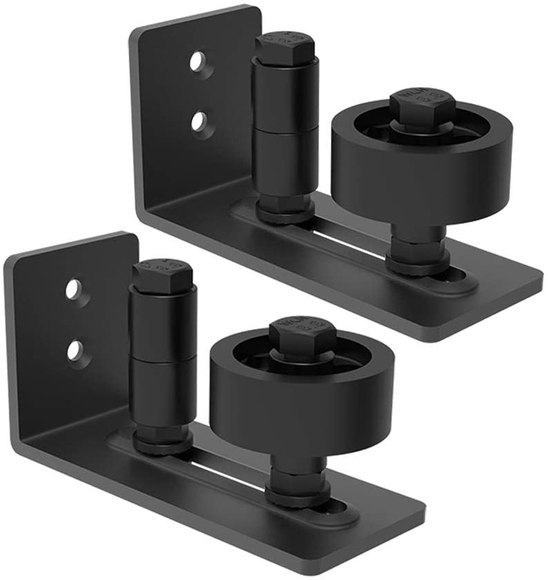 Homlux Heavy Duty Sliding Barn Door Floor Guide-Adjustable Roller, 8 Type for You Opt, Flush Bottom Design Barn Door Floor Guide-Top Quality Roller£¬2 Pack