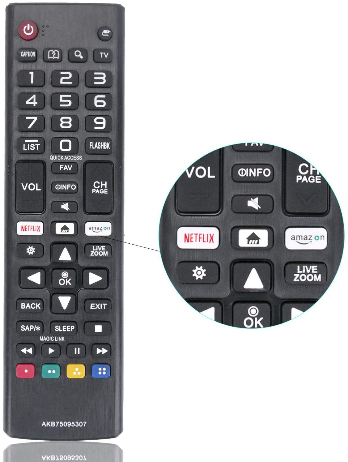 RJMom New Remote Control AKB75095307 Replacement for LG LED LCD TV 32LJ550B 55LJ5500