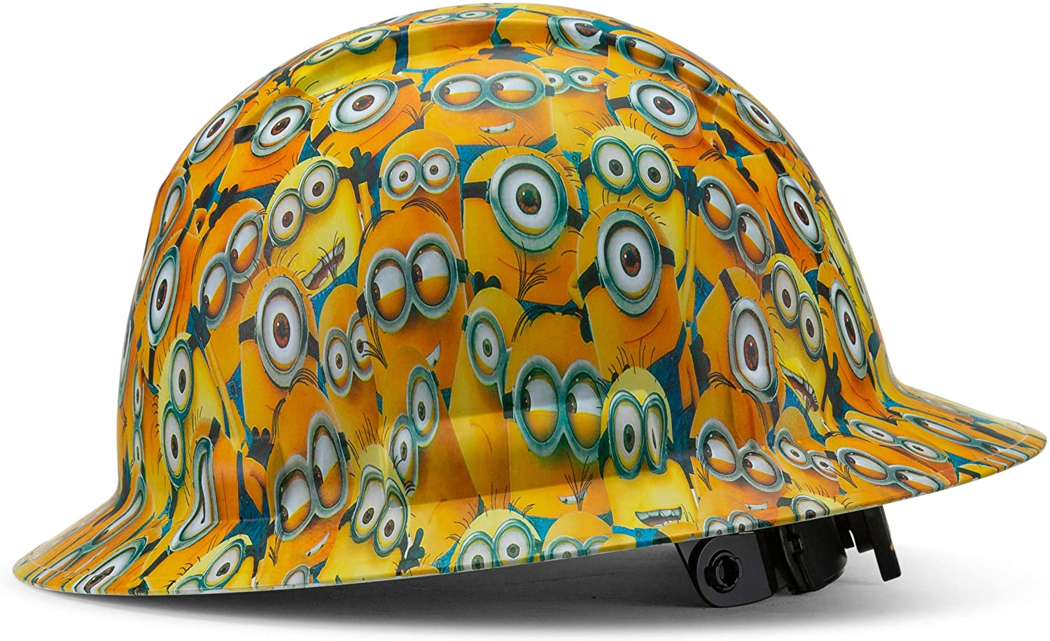 Pyramex Full Brim Hard Hat with Minions Design, 4 Point Suspension, by Acerpal