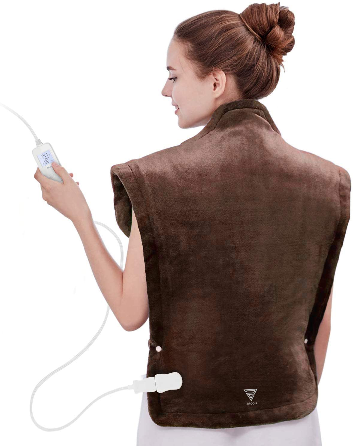 Slidifix Heating Pad for Back and Shoulder Pain - 24 x 33 inches Heat Pad – 5 Different Heat Settings for Cramp Relief – Cures Sports Soreness – Auto Shut Off – Flexible Adjustment