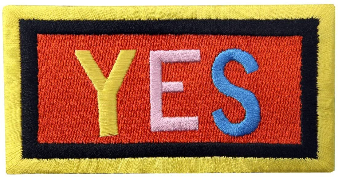 Yes Patch Embroidered Applique Iron On Sew On Emblem