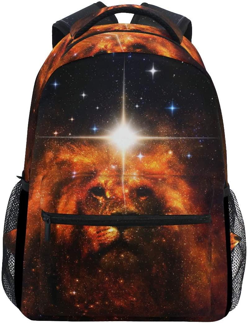 Art Space King Lion Backpack School Bookbag Travel Shoulder Laptop Bag for Womens Mens