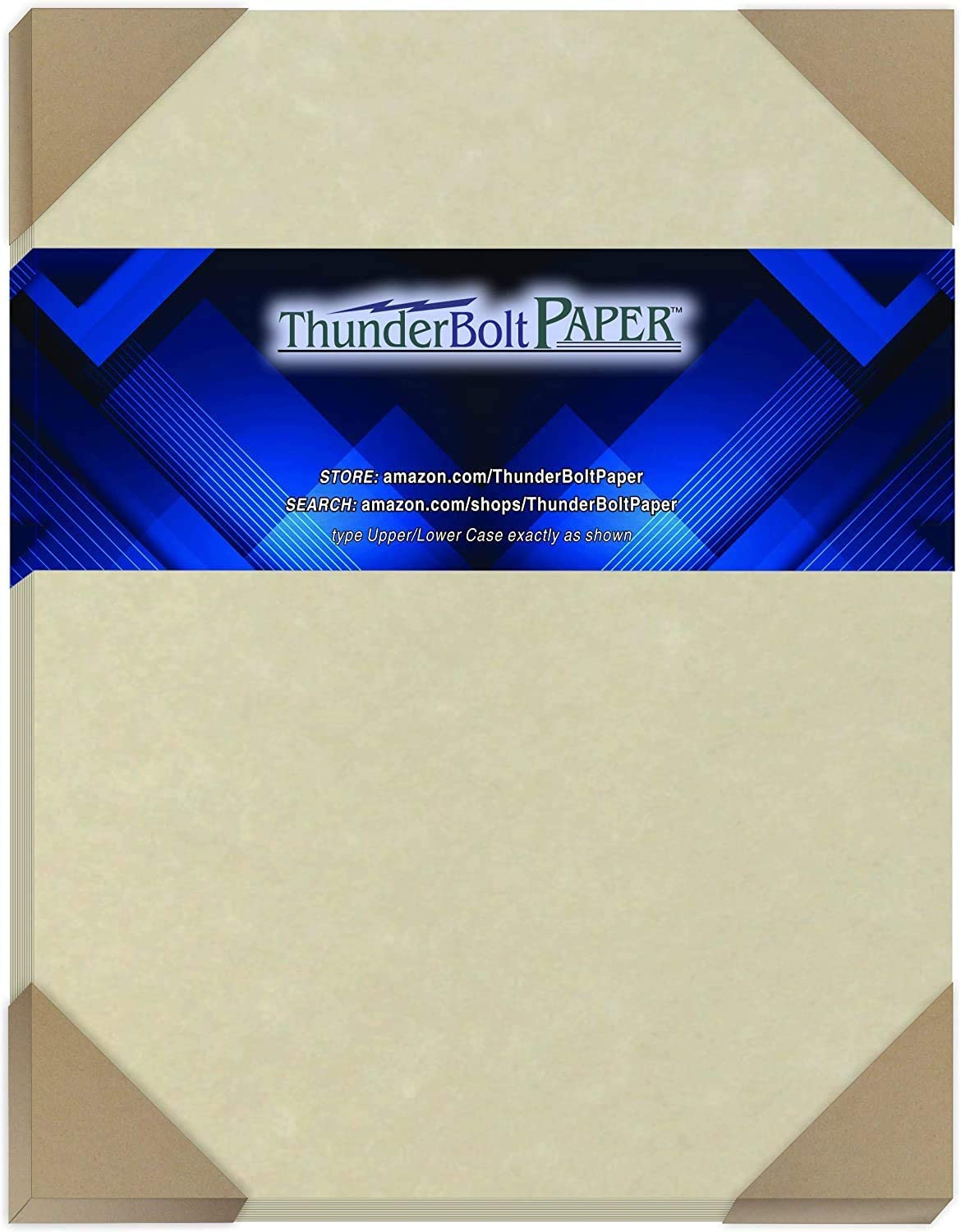 50 Natural Parchment 60# Text (=24# Bond) Paper Sheets - 8.5 X 11 Inches Standard Letter|Flyer Size - 60 Pound is Not Card Weight - Vintage Colored Old Parchment Semblance