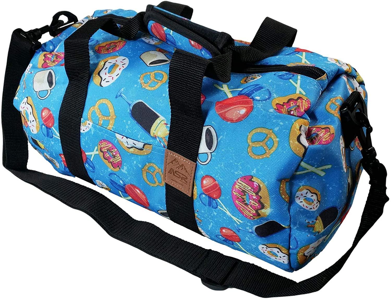 ASR Outdoor 16 Inch Round Duffel Bag Trendy Pattern Adjustable Shoulder Strap
