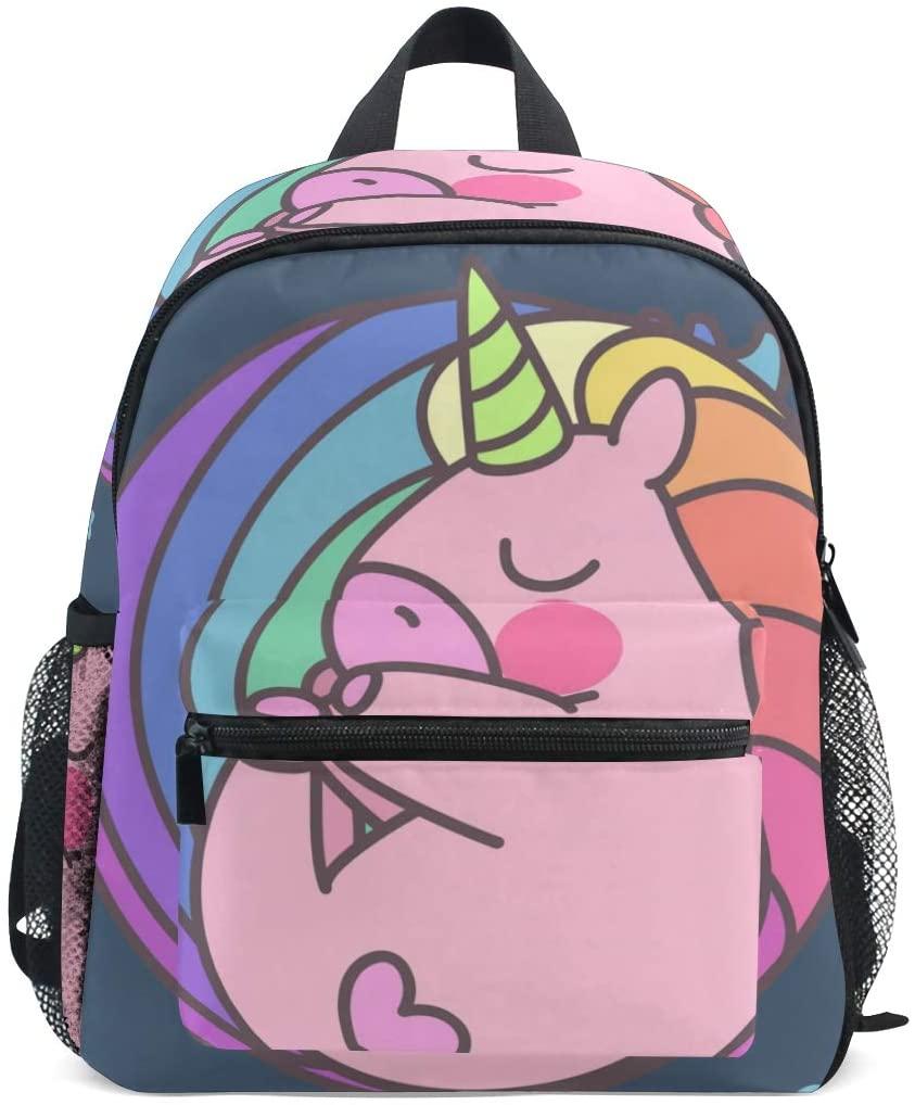 Toddler Backpack Sleeping Cute Unicorn Preschool Backpack Travel Bag for 3-8 Years Baby Girl Boy