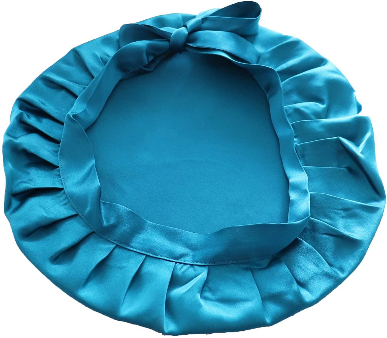 Sleeping Hats Silk Flat Cap Sleep Traceless Bonnet Cap Night Hat Natural Hair Curly Hair Loss Head Cover for Women Girls