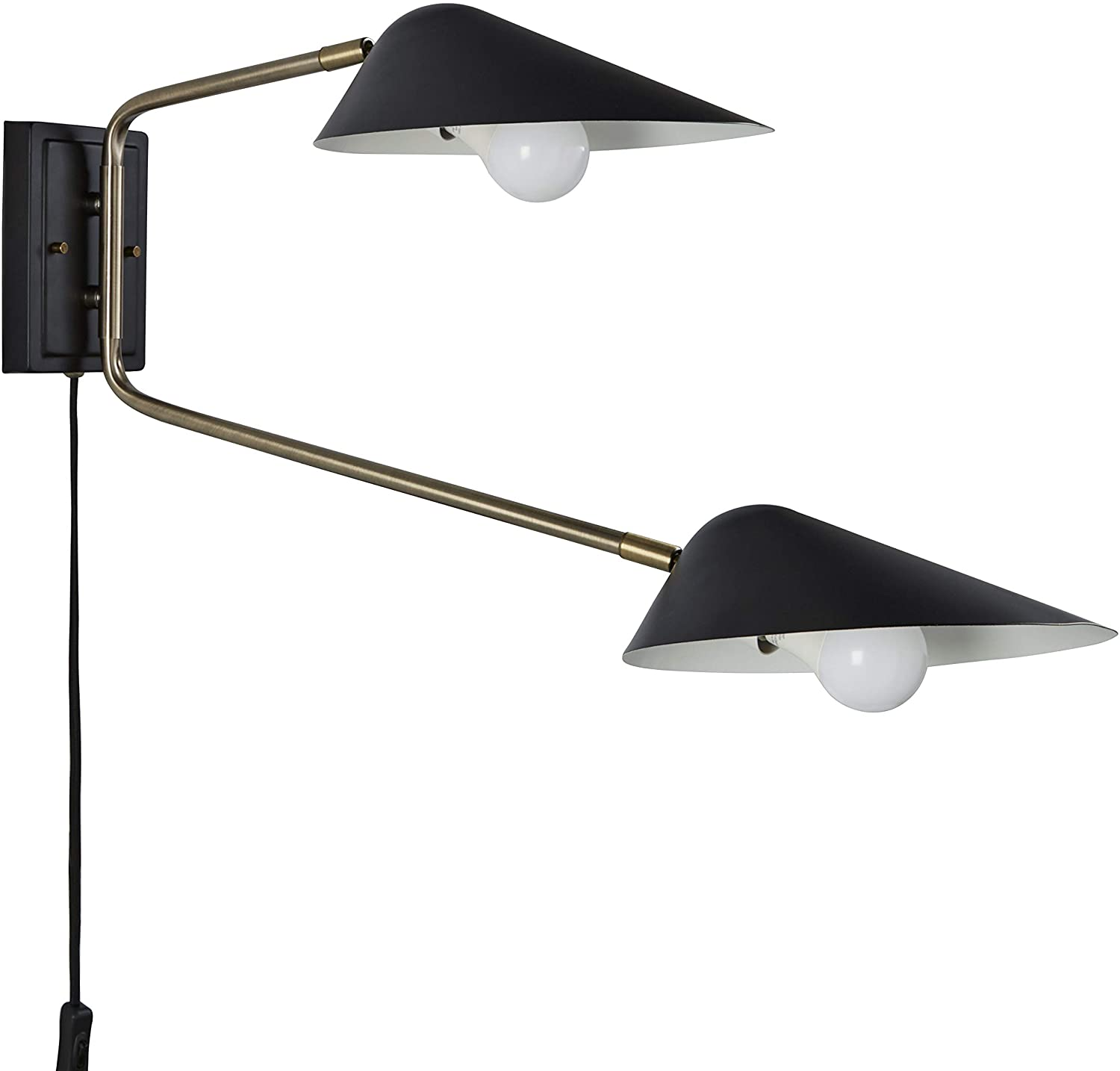 DHgate Brand – Rivet Mid-Century Swiveling Wall Sconce with Bulb, 16.2