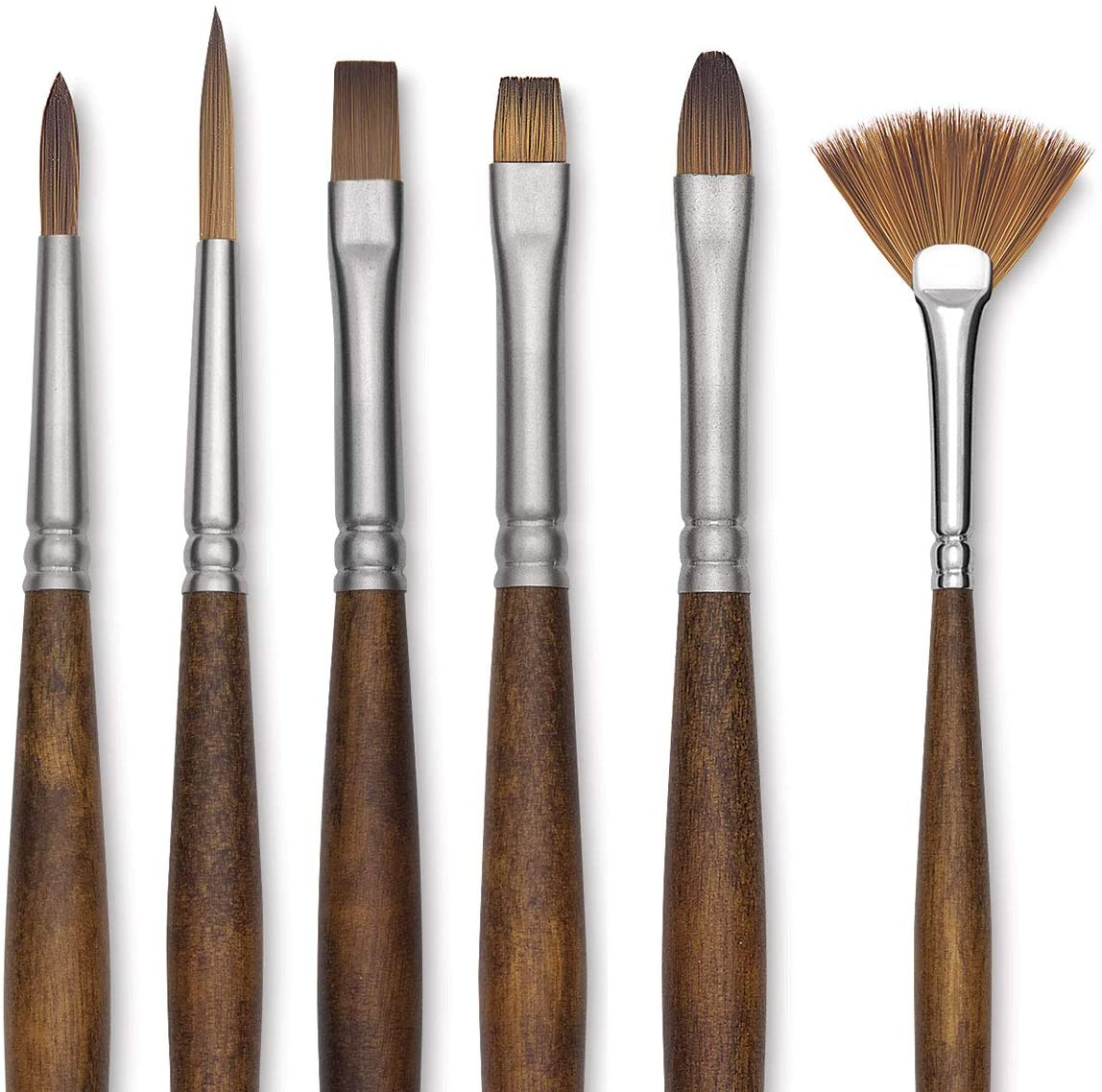 Raphael Precision Long Handle Brushes Flat 36