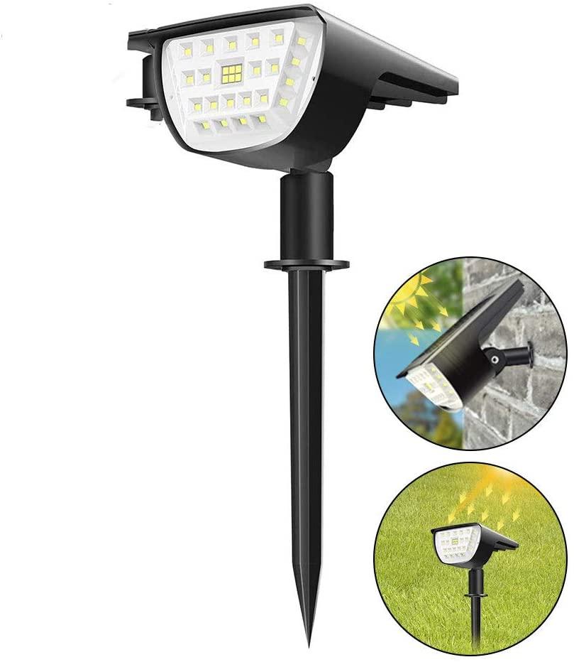 32 LED Solar Landscape Spotlights IP67 Waterproof Solar Powered Wall Lights 2-in-1 Landscaping Light for Yard Garden Courtyard Lawn Gallery(1 pcak)