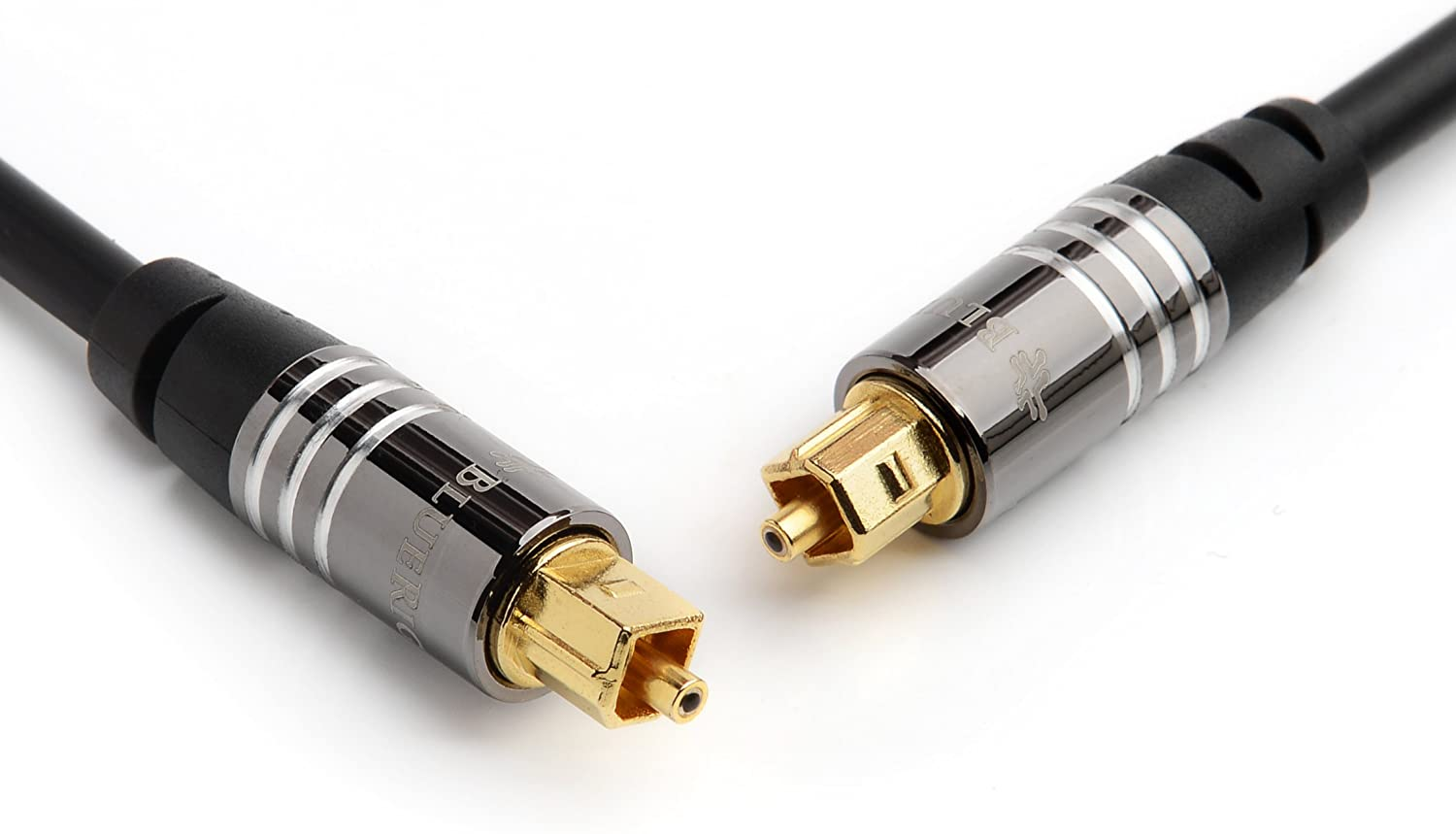 BlueRigger Premium Digital Optical Audio Toslink Cable - with 24K Gold Plated Connectors (for Home Theatre, Xbox, Playstation etc.) (3FT)