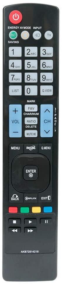 RJMom US New AKB72914218 Replaced Remote Control for LG LCD LED Plasma HDTV TV