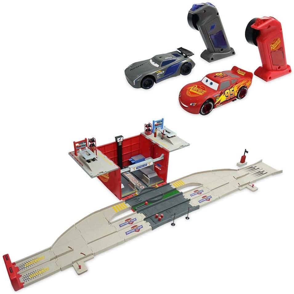 Disney Cars Racetrack Pit Stop Set