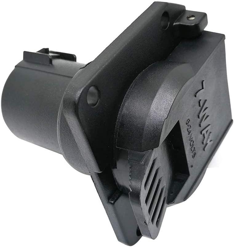 CARROFIX Replacement OEM USCAR RV Blade 7 Pin Wiring Socket Vehicle-Side Trailer Plug