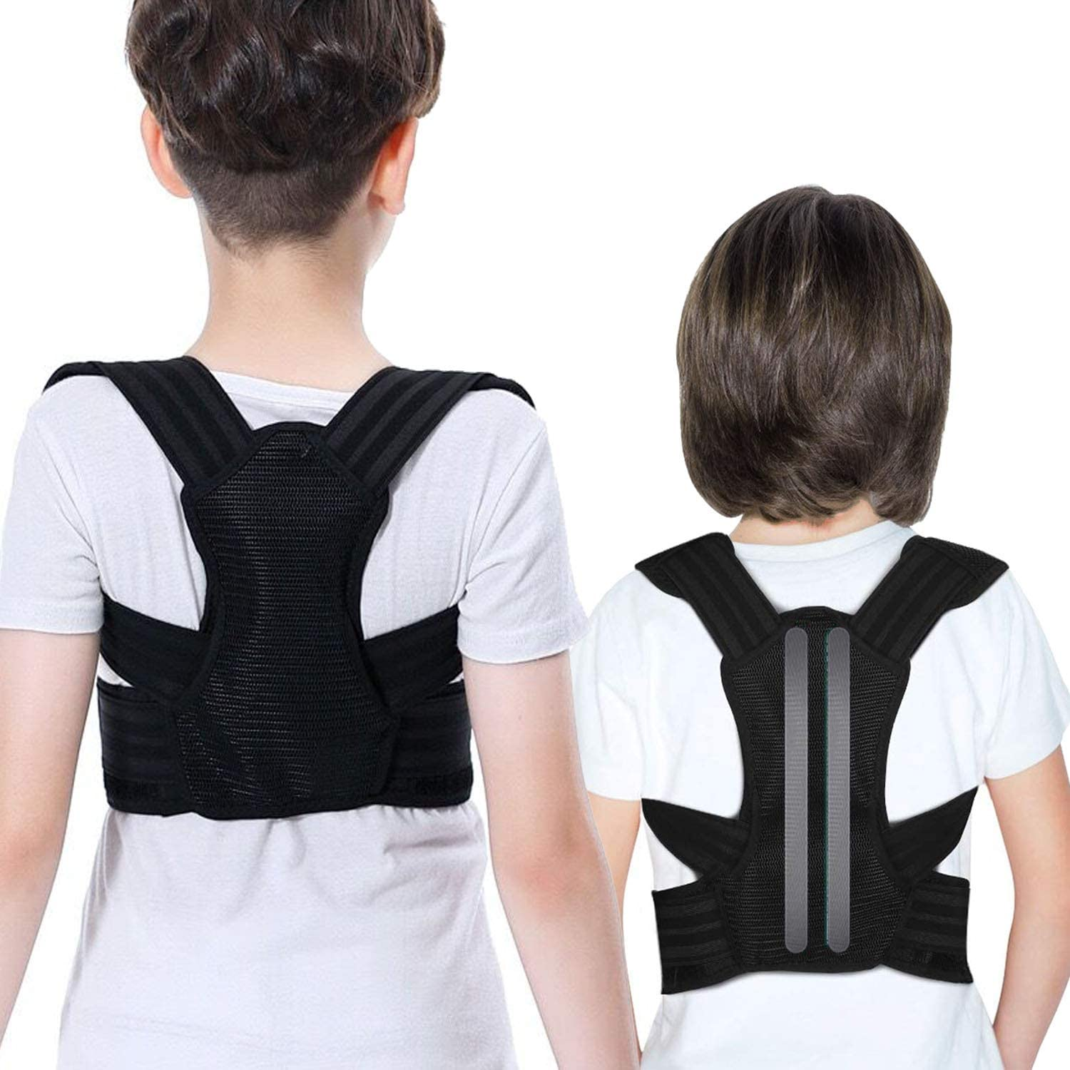 Professional Posture Corrector for Kids and Teens - Adjustable Comfortable Back Brace for Teenager Girls and Boys to Improves Slouch, Prevent Humpback, Relieve Back Pain, Best Posture Brace